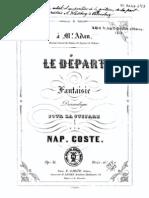 Fantaisie Dramatique (Le Depart) - Napoleon Coste
