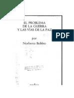 El Problema de La Guera y Las Viasde La Paz - Bobbio