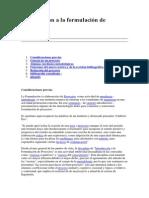 Introduccion a La Formulación de Proyectos