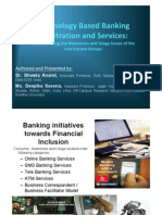 JIMS Rohini Faculty Saturday Talk Session Technology Based Banking Penetration and Services