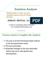 Mixed Dentition Analysis. / orthodontic courses by Indian dental academy