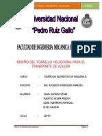 Diseño Del Tornillo Helicoidal Para El Transporte de Azucar