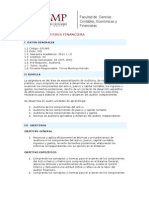 Auditorìa Financiera - Syllabus - 2010-1