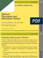 Shannon, Hypergames and Information WarfareCK-S