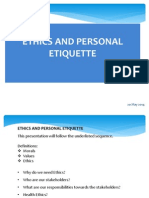 Presentation on Personal Etiqutte
