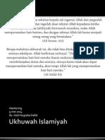 Ukhuwah Islamiyah Tuk Mentoring