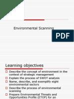 Environmental Appraisal & Scanning