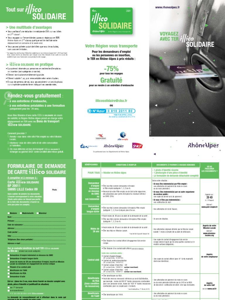 Renouveler Carte Illico Solidaire | Carte De Paris