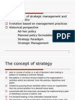 Evolution,Strategic Mgt..Process & Strategic Planning