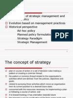 Evolution,Strategic Mgt..Process & Strategic Planning