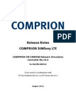Release Notes COMPRION LTE CMW500 Network Simulation Controller R4.10.3