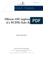 Efficient ASIC Implementation of a WCDMA Rake Receiver