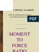 Moment to Force Ratio Final Presentation / orthodontic courses by Indian dental academy