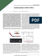 Nanophotonic Quantum Phase Switch With Single Atom