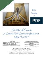 St. Rita Parish Bulletin 5/18/2014