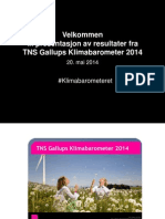 Presentasjon Av Resultater Fra TNS Gallups Klimabarometer 2014