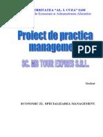 Practica Management - SC Md Tour Expres SRL