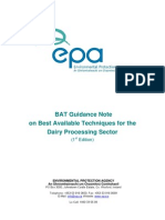 Bat Guidance Note for Dairy Sector