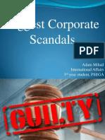 Corporate Scandals