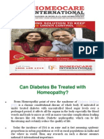 Homeocare Diabetes Treatment