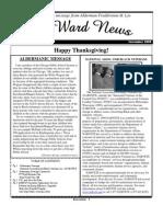 Nov. 2009 Aldermanic Newsletter