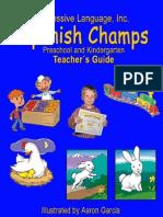 Preschool Spanish Curriculum Sample