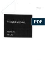 UBS - Security Risk Governance (2006)