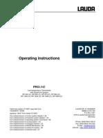 Banho Termostático - Lauda 1290 - Operational Instructions