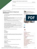 Questões Comentadas de Organização Administrativa