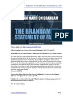 The Branhamite Statement of Faith