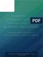 1 Introduction a La Physiologie Des Glandes Endocrines