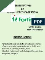 Nitish Shukla Fortis Health Care