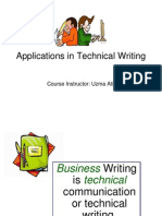 Applications in Technical Writing - Lecture 3