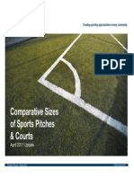Comparative Sizes of Sports Pitches