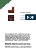 SolInvictus Press Catalog 2014