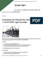 Standard de Pregătire Profesională – Calificare_ Agent de Poliţie _ Pregateste-te Din Timp !