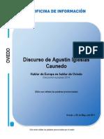 Intervención de Agustín Iglesias Caunedo