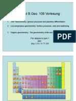 Geochemie I - 2 Igneous Processes