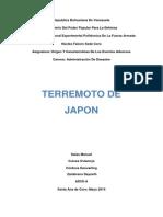 Trabajo Terremoto Japon