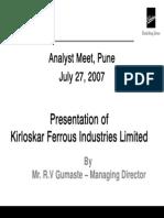 KFIL Analyst Meet2007dd