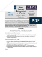 WAR CRIMES PROSECUTION WATCH Volume 9 - Issue 4 May 19, 2014