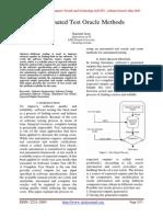 Automated Test Oracle Methods