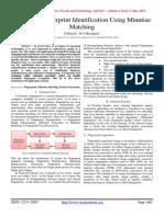 Automatic fingerprint Identification Using Minutiae Matching