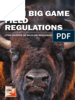 2014 Utah Big Game Field Regulations