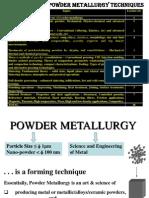 Powder Metallurgy#1