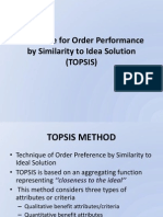 Session 7-Technique for Order Performance by Similarity to Ideal