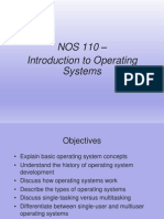 NOS 110 Introduciton to Operating Systems