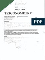 GCSE Maths Topics - Trigonometry - Answers