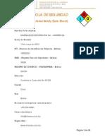 Certificado Msds - Minerex s.A