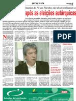 Entrevista balanço autarquicas Progresso de Paredes 30-10-09